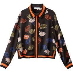 Bluzki damskie: Bluzka koszulowa z nadrukiem w japońskie kwiaty