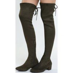 Zielone Kozaki Decorous. Zielone buty zimowe damskie marki Born2be, na płaskiej podeszwie. Za 119,99 zł.