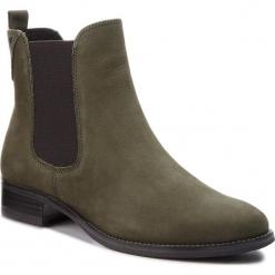 Sztyblety CAPRICE - 9-25317-21 Khaki Nubuc 716. Zielone buty zimowe damskie Caprice, z materiału, na obcasie. W wyprzedaży za 259,00 zł.