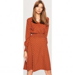 Sukienka w kropki - Brązowy. Brązowe sukienki Reserved, l, w kropki. Za 119,99 zł.