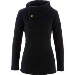 Sweter bonprix czarny. Czarne swetry klasyczne damskie bonprix, z materiału. Za 74,99 zł.