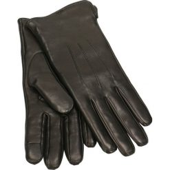 Rękawiczki damskie. Czarne rękawiczki damskie Gino Rossi, na jesień, ze skóry. Za 179,90 zł.