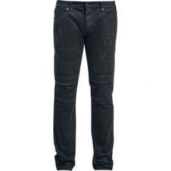 Jeansy męskie regular: Doomsday Destroyed Jeans Jeansy czarny