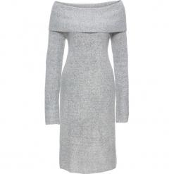 Sukienka dzianinowa z odkrytymi ramionami bonprix jasnoszary melanż. Szare sukienki dzianinowe bonprix, melanż, z odkrytymi ramionami. Za 79,99 zł.