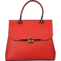 Torebki klasyczne damskie: Skórzana torebka w kolorze czerwonym – 28 x 22 x 11 cm