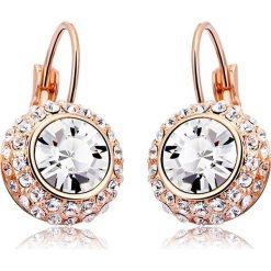 Biżuteria i zegarki: Pozłacane kolczyki z kryształkami Swarovski