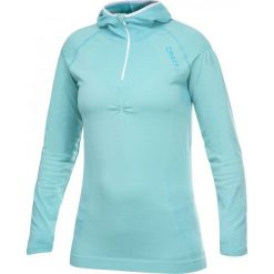 Bluzy damskie: Craft Bluza damska CK Hood turkusowa r. M (1901670-2334)