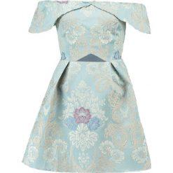 Sukienki: Missguided BROCADE SKATER  Sukienka koktajlowa blue
