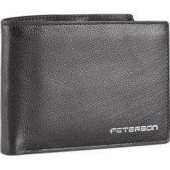 Duży Portfel Męski PETERSON - 347/W-04-01-01 Czarny. Czarne portfele męskie Peterson, ze skóry. W wyprzedaży za 129,00 zł.