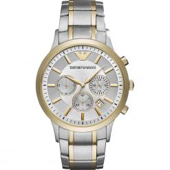 Zegarek EMPORIO ARMANI - Renato AR11076  2-Tone/Silver/Gold/Gold. Szare zegarki męskie marki Emporio Armani, l, z nadrukiem, z bawełny, z okrągłym kołnierzem. Za 1569,00 zł.