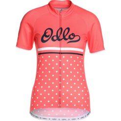 ODLO STANDUP COLLAR FULL ZIP FUJIN PRINT Tshirt z nadrukiem dubarry/retro. Czerwone t-shirty damskie Odlo, xs, z nadrukiem, z materiału. Za 299,00 zł.