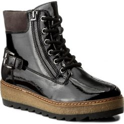 Botki TAMARIS - 1-25220-29 Black Patent 018. Szare buty zimowe damskie marki Tamaris, z materiału. W wyprzedaży za 179,00 zł.