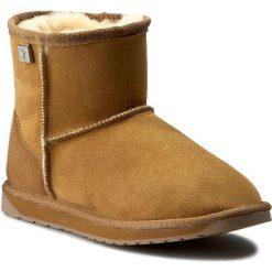 Buty EMU AUSTRALIA - Platinum Stinger Mini WP10003 Chestnut. Brązowe buty zimowe damskie EMU Australia, ze skóry, na niskim obcasie. Za 679,00 zł.