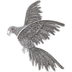Biżuteria i zegarki: RABAT Srebrna Broszka – srebro 925, Cyrkonia…