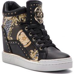 Sneakersy GUESS - FL5FIN PEL12 BLACK. Czarne sneakersy damskie marki Guess, z materiału. Za 669,00 zł.