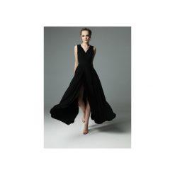 SUKIENKA ANDREA - CZARNA. Brązowe sukienki dzianinowe marki Mohito, l, z kopertowym dekoltem, kopertowe. Za 339,00 zł.