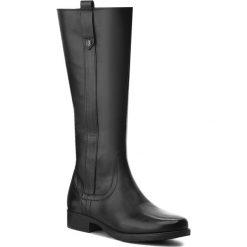 Oficerki LASOCKI - WI16-18040 Czarny. Czarne buty zimowe damskie Lasocki, ze skóry, przed kolano, na wysokim obcasie, na obcasie. Za 299,99 zł.