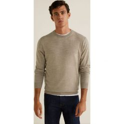 Mango Man - Sweter Willyc. Szare swetry klasyczne męskie Mango Man, l, z dzianiny, z okrągłym kołnierzem. Za 199,90 zł.
