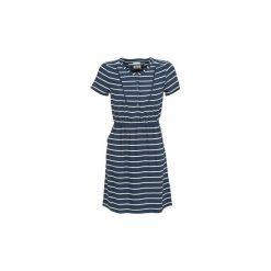 Sukienki krótkie Tommy Jeans  QARRIE. Niebieskie sukienki mini marki Tommy Jeans, m, z jeansu, z krótkim rękawem. Za 351,20 zł.