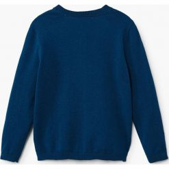 Mango Kids - Kardigan dziecięcy Emma2 104-164 cm. Niebieskie swetry dziewczęce Mango Kids, z bawełny. W wyprzedaży za 39,90 zł.