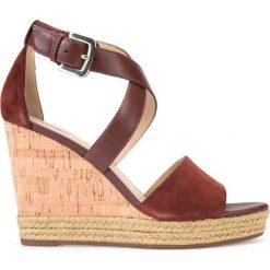 Rzymianki damskie: Skórzane sandały na koturnie D Janira E