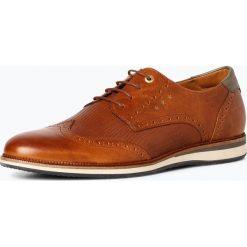 Pantofola d`Oro - Półbuty męskie ze skóry – Rubicon, brązowy. Brązowe półbuty skórzane męskie Pantofola d`Oro. Za 379,95 zł.