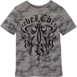 T-shirty męskie: T-shirt Slim Fit bonprix szary z nadrukiem