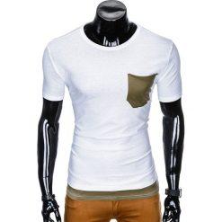 T-SHIRT MĘSKI BEZ NADRUKU S963 - BIAŁY. Białe t-shirty męskie z nadrukiem Ombre Clothing, m. Za 29,00 zł.