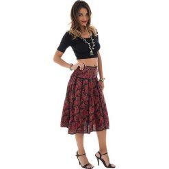 Odzież damska: Spódnica w kolorze czerwono-czarnym