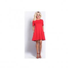 Phlox - czerwona sukienka. Czerwone sukienki na komunię marki Cocoviu, do pracy, l, biznesowe, trapezowe. Za 97,30 zł.