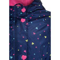 Mothercare HEART  Parka navy. Niebieskie kurtki dziewczęce przeciwdeszczowe mothercare, z materiału. Za 129,00 zł.