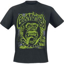 T-shirty męskie z nadrukiem: Gas Monkey Garage Green Grunge T-Shirt czarny