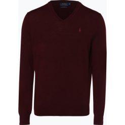 Polo Ralph Lauren - Męski sweter z wełny merino – Slim Fit, czerwony. Czerwone swetry klasyczne męskie Polo Ralph Lauren, l, z dzianiny, polo. Za 659,95 zł.