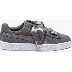 Puma - Buty Suede Heart LunaLux. Szare buty sportowe damskie Puma, z gumy. W wyprzedaży za 329,90 zł.