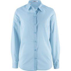 Bluzka, długi rękaw bonprix pudrowy niebieski. Niebieskie bluzki longsleeves marki bonprix. Za 37,99 zł.