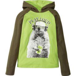 Odzież dziecięca: Shirt z kapturem bonprix ciemnooliwkowo-zielone jabłko