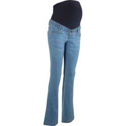 Dżinsy ciążowe Bootcut bonprix niebieski bleached. Niebieskie jeansy damskie bootcut bonprix, moda ciążowa. Za 139,99 zł.