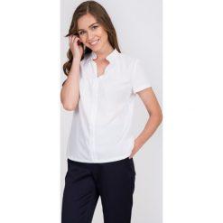 Bluzki asymetryczne: Biała bluzka z dekoltem w serek QUIOSQUE