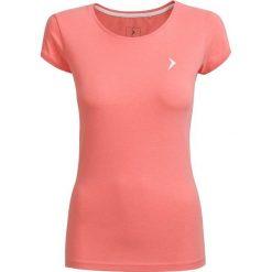 T-shirt damski  TSD616 - łososiowy melanż - Outhorn. Czerwone t-shirty damskie Outhorn, melanż, z bawełny. W wyprzedaży za 24,99 zł.