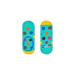 Skarpetki Happy Socks - Big Dot Liner (BDO06-7000). Szare skarpetki męskie marki Happy Socks, w kolorowe wzory, z bawełny. Za 27,90 zł.