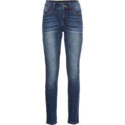 """Dżinsy SKINNY bonprix niebieski """"stone used"""". Zielone jeansy damskie marki bonprix, w kropki, z kopertowym dekoltem, kopertowe. Za 129,99 zł."""