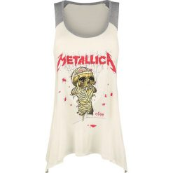 Topy damskie: Metallica EMP Signature Collection Top damski kremowy melanż/szary