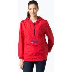 Tommy Jeans - Kurtka damska, czerwony. Czerwone bomberki damskie Tommy Jeans, l, z jeansu, z kapturem. Za 479,95 zł.