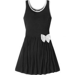 Sukienki dziewczęce: Sukienka z kokardką bonprix czarny