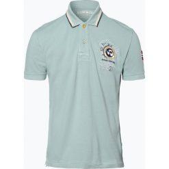 Napapijri - Męska koszulka polo – Gandy 1, zielony. Szare koszulki polo marki Napapijri, l, z materiału, z kapturem. Za 449,95 zł.