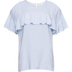 Bluzki damskie: Bluzka z wycięciami na ramionach: must have bonprix biało-niebieski w paski