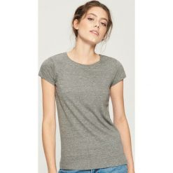 T-shirt Basic - Szary. Szare t-shirty damskie Sinsay, l. Za 9,99 zł.