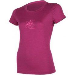 Bluzki sportowe damskie: Sensor Koszulka Termoaktywna Z Krótkim Rękawem Merino Wool Active Pt Orchidea W Lilla L