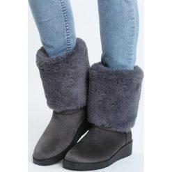Szare Śniegowce Lights Of Home. Szare buty zimowe damskie marki Born2be. Za 79,99 zł.