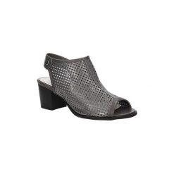 Sandały Jezzi  Sandały ażurowe  SA69-7. Szare sandały damskie marki Jezzi, w ażurowe wzory. Za 89,99 zł.